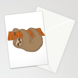 """For Animal Lovers Great Sloth Tee For Animal Lovers """"My Spirit Animal"""" T-shirt Design Lazy Sleepy Stationery Cards"""