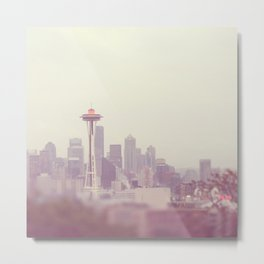 Seattle skyline Space Needle photograph. Thinking of You Metal Print