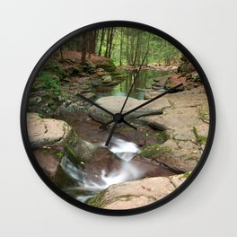 Worlds End Forest Stream Wall Clock