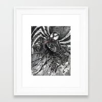 venom Framed Art Prints featuring VENOM by Jay Allen Hansen