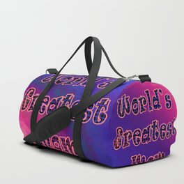 World's Greatest Mom Duffle Bag