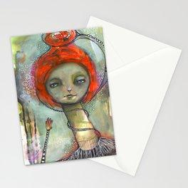 Original Mixed Media Illustration by Jenny Manno Stationery Cards