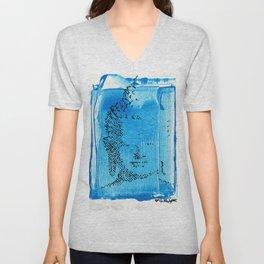 Buddha Blue Unisex V-Neck