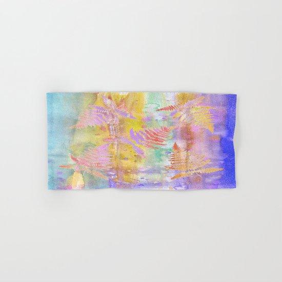 Colorful Fern Leaves W Hand & Bath Towel