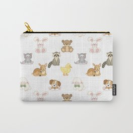 Cute Woodland Farm Baby Animals Nursery Carry-All Pouch