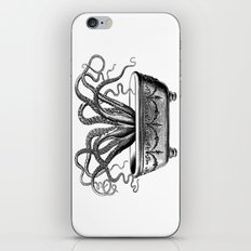 Tentacles in the Tub | Octopus | Black and White iPhone & iPod Skin
