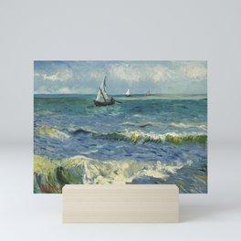 Seascape Near Les Saintes-Maries-de-la-Mer Vincent van Gogh Mini Art Print