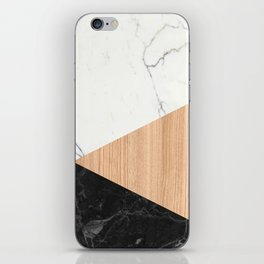 Marble and Wood Abstract iPhone Skin