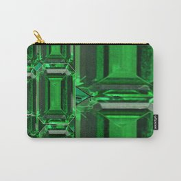 SPRING GREEN EMERALDS ART DECORATIVE  DESIGN Carry-All Pouch