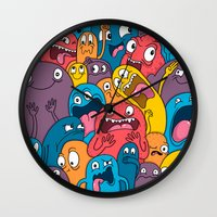 weird Wall Clocks featuring Weird Bros by Chris Piascik