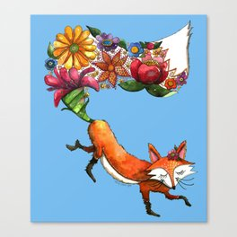 Hunt Flowers Not Foxes Canvas Print