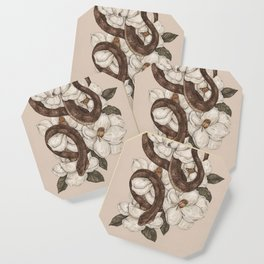 Snake and Magnolias Coaster