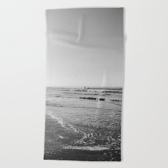 Surfing Monochrome Beach Towel