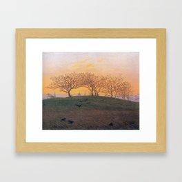 Caspar David Friedrich Hill and Ploughed Field near Dresden Framed Art Print