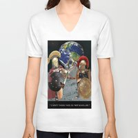 caleb troy V-neck T-shirts featuring TROY by LIGGYZIGHAT