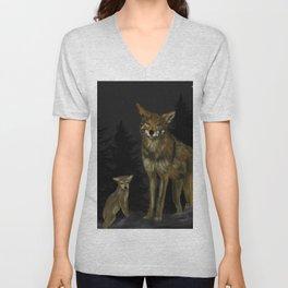 Canis Rufus Unisex V-Neck
