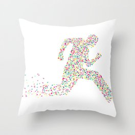 Dash For Love Throw Pillow