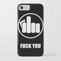 fuck you iPhone & iPod Cases featuring FUCK YOU  by Daaman