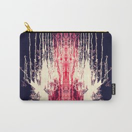 Pink and Navy Blue Abstract Watercolor Pain Drips Carry-All Pouch