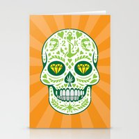 calavera Stationery Cards featuring Calavera by courtney2k ⚓ design™