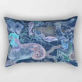 Star Atlas Vintage Constellation Map Blue Ignace Gaston Pardies Rectangular Pillow