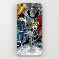 fullmetal alchemist iPhone & iPod Skins featuring Fullmetal Alchemist by MarioRojas