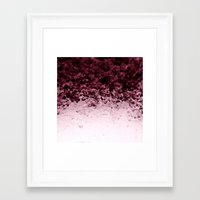crystals Framed Art Prints featuring Burgundy CrYSTALS by 2sweet4words Designs