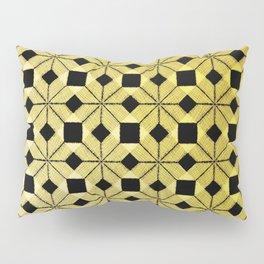 Golden Snow, Snowflakes #02 Pillow Sham