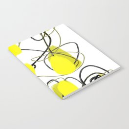 Yellow Dot Abstract Notebook