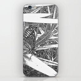 Wild Butterfly Sketch iPhone Skin