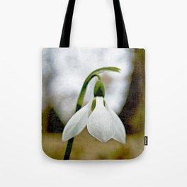 Moody Snowdrop Tote Bag