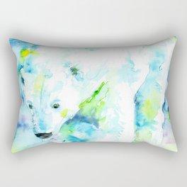 POLAR BEAR - watercolor portrait Rectangular Pillow