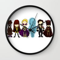 watchmen Wall Clocks featuring watchmen by Space Bat designs