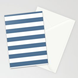 Blue and White Stripes Stationery Cards