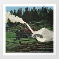 smoking Art Prints featuring Smoking by odart