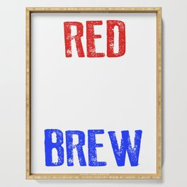 Red White And Brew 4th Of July Serving Tray