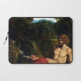 Annibale Carracci - Saint John the Baptist seated in the Wilderness Laptop Sleeve