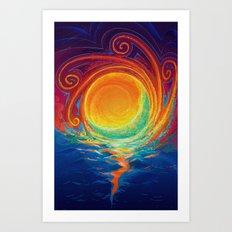 Sun Moon & Stars Art Print