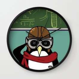 Little Penguin, Big Plans Wall Clock
