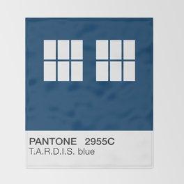 TARDIS Blue Pantone Throw Blanket