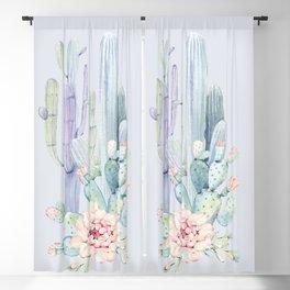 Mixed Cacti 2 Blue #society6 #buyart Blackout Curtain