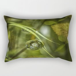 A Bubble on the Surface of a Pond Rectangular Pillow