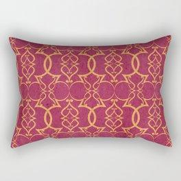 Gold Trellis Rectangular Pillow