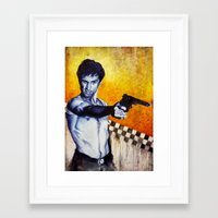 taxi driver Framed Art Prints featuring Taxi Driver by The Notorious Gasoline Company