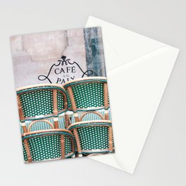 Cafe Closed Paris, France Stationery Cards