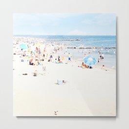 Blue Beach Brooklyn Metal Print