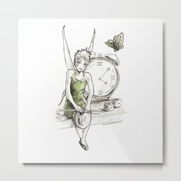 A Fairy is Waiting Metal Print