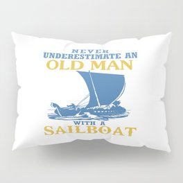 Old Man With A Sailboat Pillow Sham
