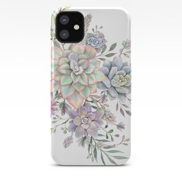succulent watercolor 8 iPhone Case