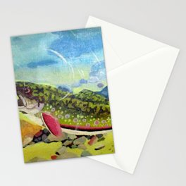 Hungry Trout Stationery Cards